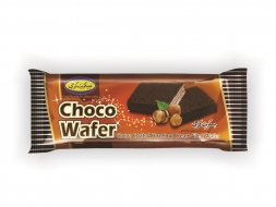 Wafer with hazelnut and cocoa flavor