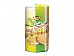 Biscuit With Lemon Flavor Cream – 135 Gr Cylindrical Pack