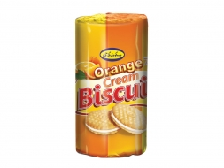 Biscuit With Orange Flavor Cream – 135 Gr Cylindrical Pack