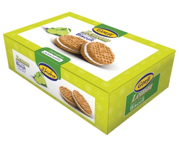Biscuit With Lemon Flavor Cream – 380 Gr Pack