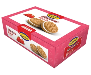 Biscuit With Strawberry Flavor Cream – 380 Gr Pack