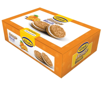 Biscuit With Orange Flavor Cream – 380 Gr Pack